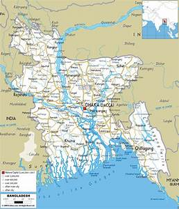 Detailed Clear Large Road Map Of Bangladesh