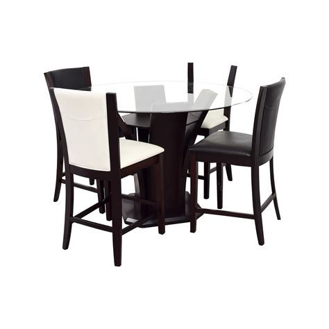 Black And White Dining Table Set by 90 Raymour Flanigan Raymour Flanigan Black And