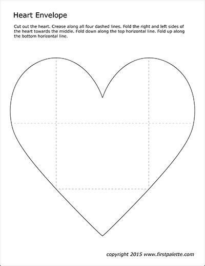 heart envelope template  printable templates