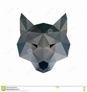 Wolf Low Poly Design Geometric, Vector Animal Illustration ...