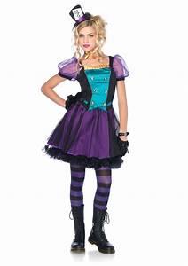 Mischievous Mad Hatter Jr Girl's Costume | Costumes.com.au