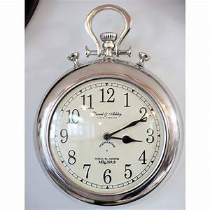 Silver pocket watch wall clock by the orchard for Pocket watch wall clock uk
