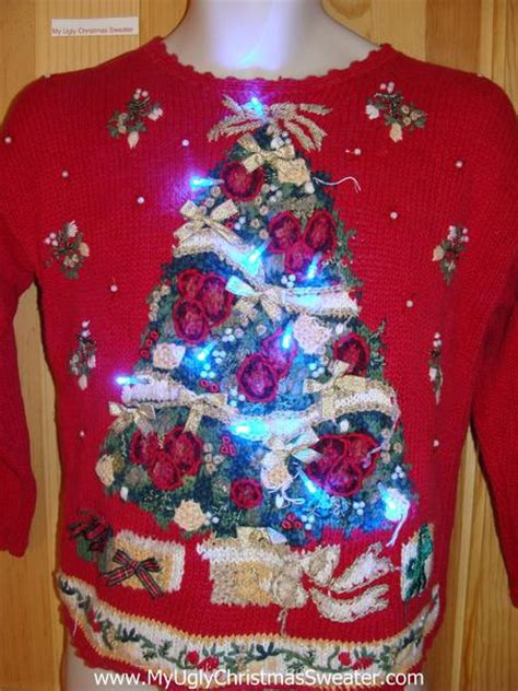 light up sweater 80s style tree