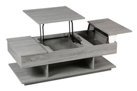 table ronde de cuisine table basse grise avec rangement le bois chez vous