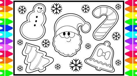 It's patched together from 21 sheets of paper (or 22 if you're printing in a4) and all you need to do is print, trim and tile them together with glue (this. How to Draw CHRISTMAS COOKIES Step by Step for Kids! Santa ...