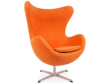 chaise de bureau knoll fauteuil egg arne jacobsen orange