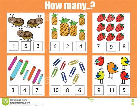 Counting Task For Kids Vector Illustration  Cartoondealercom #64732274