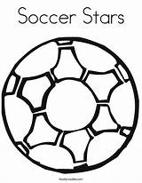 Soccer Coloring Ball Pages Stars Football Boys Printable Let Sport Logos Twistynoodle sketch template