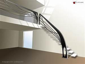 Garde Corps Contemporain : escalier design suspendu la stylique ~ Melissatoandfro.com Idées de Décoration