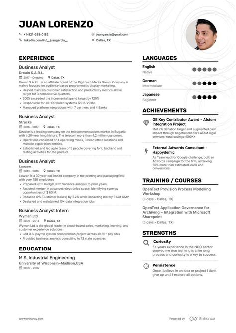 Download free samples and work from data analysts create value by providing insights into business operations, processes, or trends in a format that is easy for internal and external. Get 44+ Download Cv Template For Business Analyst Images jpg