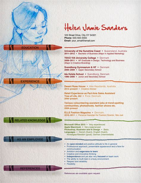 resume by thewholeorange on deviantart