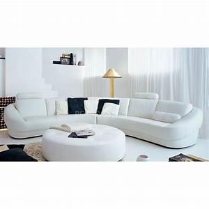 Canapé D Angle Vintage : canap d 39 angle design en cuir aquila pouf pop ~ Teatrodelosmanantiales.com Idées de Décoration