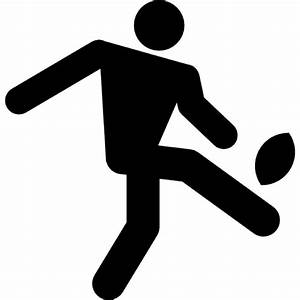 Rugby player kicking the ball Icons | Free Download