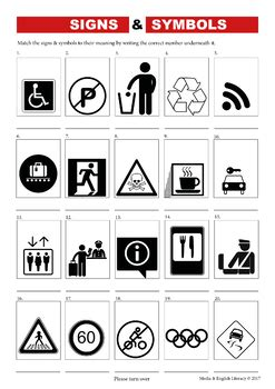 media literacy signs symbols worksheets by media and