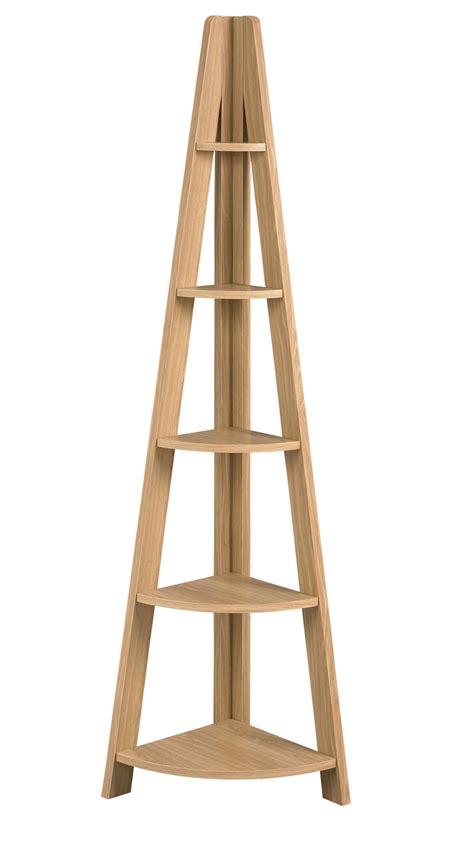 corner ladder shelf tiva ladder corner shelving in oak lpd furniture