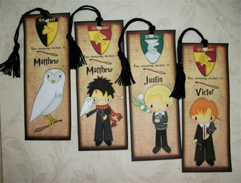 harry potter bastelideen personalized harry potter bookmarks magical wizard