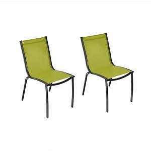Chaise De Jardin Santa Rosa Vert Anis Lot De2
