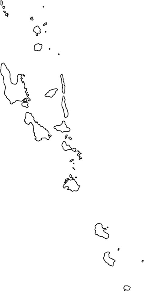 vanuatu outline map  world atlas