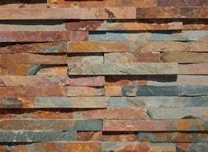 Construction En Pierre : parement mural pierre naturelle ardoise multicolore ~ Premium-room.com Idées de Décoration