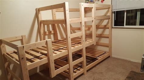 triple bunk bed    home projects  ana