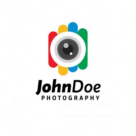 colorful photography logo template vector free download