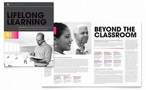 adult education business school brochure template design With education brochure templates free