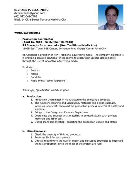 sle resume for process operator sle resume