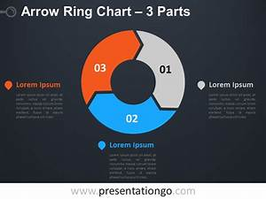 3-parts Arrow Ring Powerpoint Chart