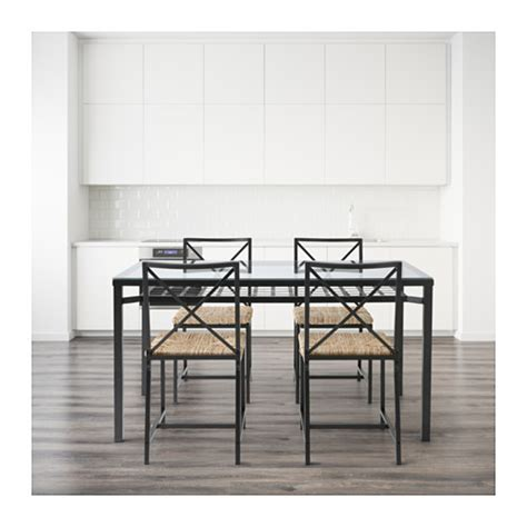 Ikea Dining Table And Chairs Glass by Gran 197 S Table And 4 Chairs Black Glass Ikea