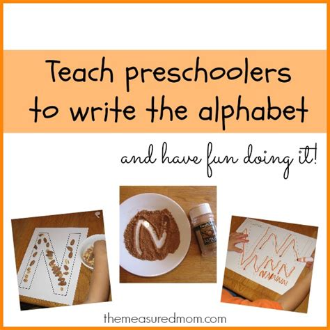 teach preschoolers to write the alphabet letter n the 529 | Writing the letter N 1a the measured mom