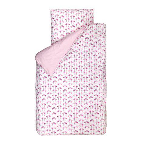 bink bettwaesche flamingos pink weiss    bei kinder raeume