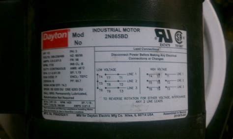fs dayton  hp ph motor