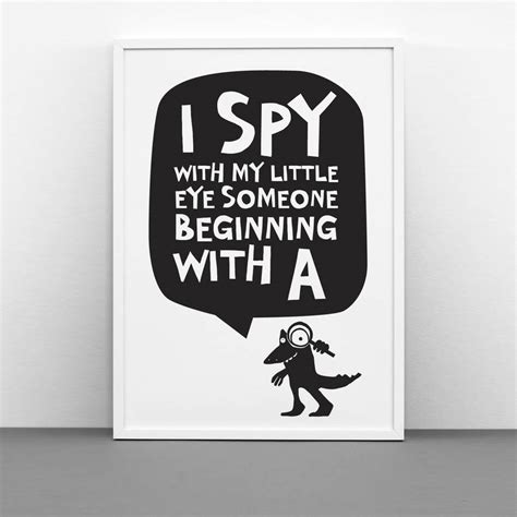Personalised 'i Spy With My Little Eye' Print By One Must