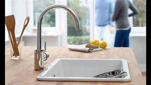 Grohe Concetto Küchenarmatur : grohe 32665dc1 concetto single handle pull down spray head kitchen faucet youtube ~ Watch28wear.com Haus und Dekorationen