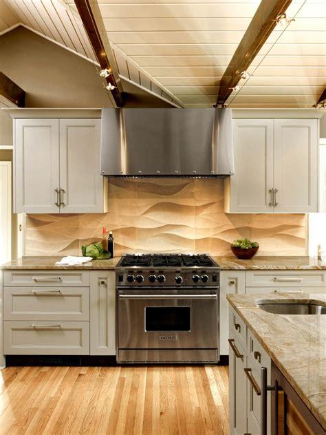 neutral transitional kitchen  wavy patterned