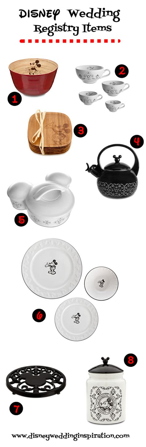 disney kitchen items wedding registry necessities gourmet mickey mouse