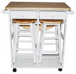 kitchen island tables with storage breakfast cart table with 2 stools white contemporary
