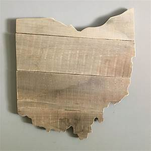 Ohio, Pallet, Wall, Art, Made, From, Birch, Pallet, Boards, And, Lightly, Sanded, To, Show, The, Texture, Of, The