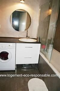 Lave Linge Dans Salle De Bain : un lave linge dans la salle de bain ~ Preciouscoupons.com Idées de Décoration