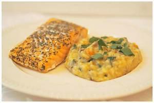 Bärlauch Risotto mit Lachs: ein schnelles Abendessen