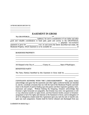blank easement forms easement in gross form fill online printable fillable