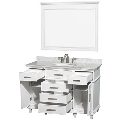 wyndham collection berkeley 48 inch w vanity in white with