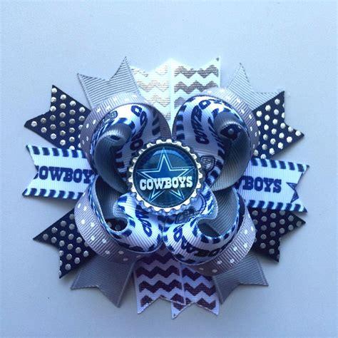foto de Dallas Cowboys Inspired Boutique Hair Bow Cowboys Bow by