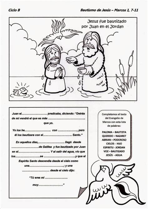 parroquia la inmaculada bautismo de jes 250 s muchas fichas para ni 241 os