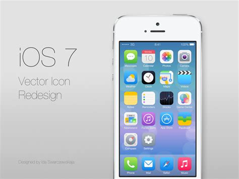 ios 7 leads a flat and line design trend for logo and mobile app branding logo