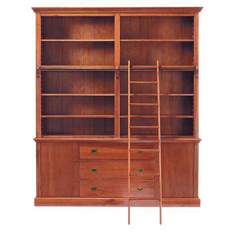 meuble chambre bébé bibliothèque avec échelle en bois massif l 193 cm voyage