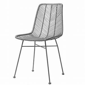 Chaise Rotin Gris : chaise design en rotin tress gris bloomingville sur cdc design ~ Teatrodelosmanantiales.com Idées de Décoration