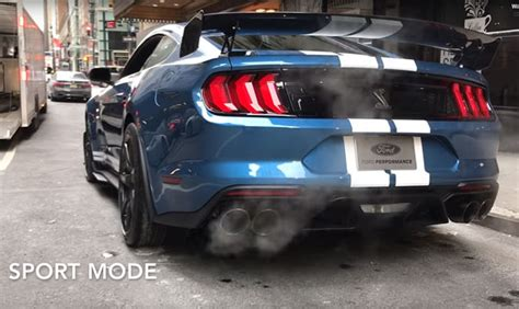 ford mustang shelby gts  exhaust modes