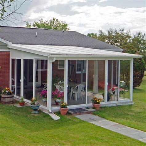 Sunroom Kits by Easyroom 14 X 16 Sloped Roof Single Pane Glass Sunroom
