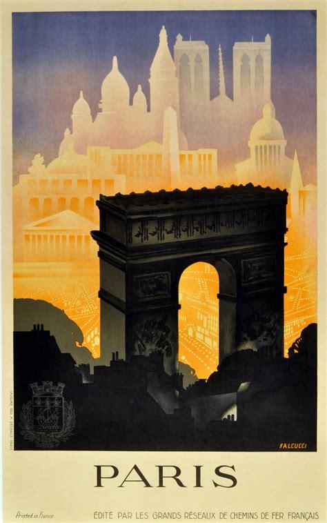 robert falcucci original vintage 1930s deco travel poster by robert falcucci
